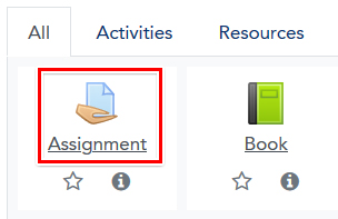Choose Assignment activity