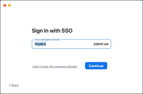 Sign In with SSO
