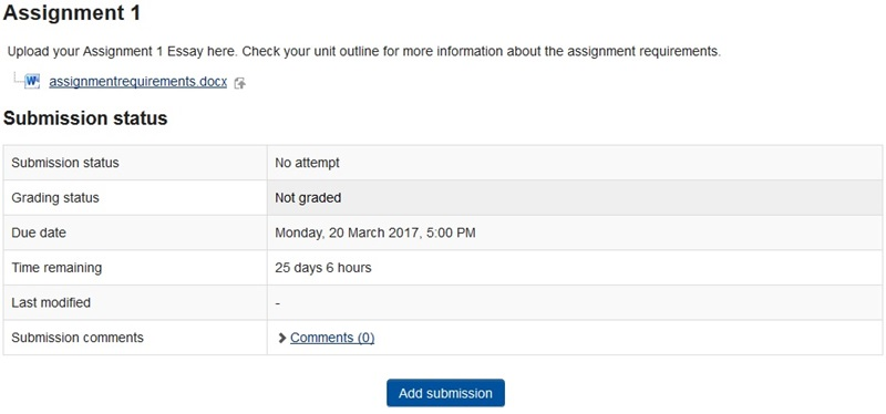 Example of assignment status