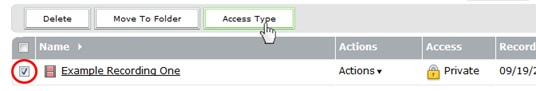 click access type