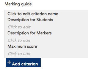 marking guide criterion