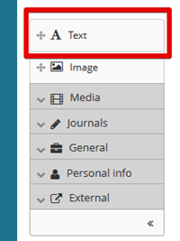 List of options available to you in Mahara eportfolio