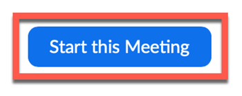 start meeting icon